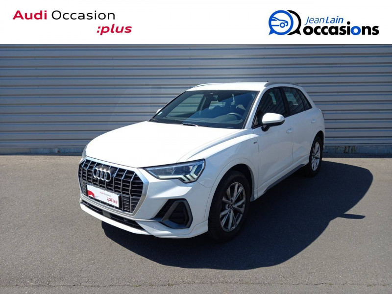 Audi Q3 Q3 40 TDI 190 ch S tronic 7 Quattro S line 5p Blanc occasion à Annemasse