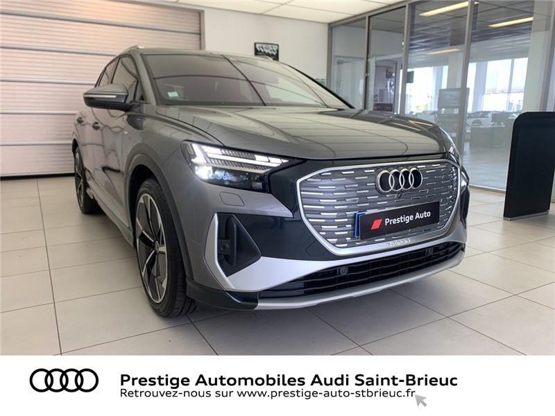 Audi Q4 40 204 CH 82 KW Gris occasion à Saint-Brieuc - photo n°3