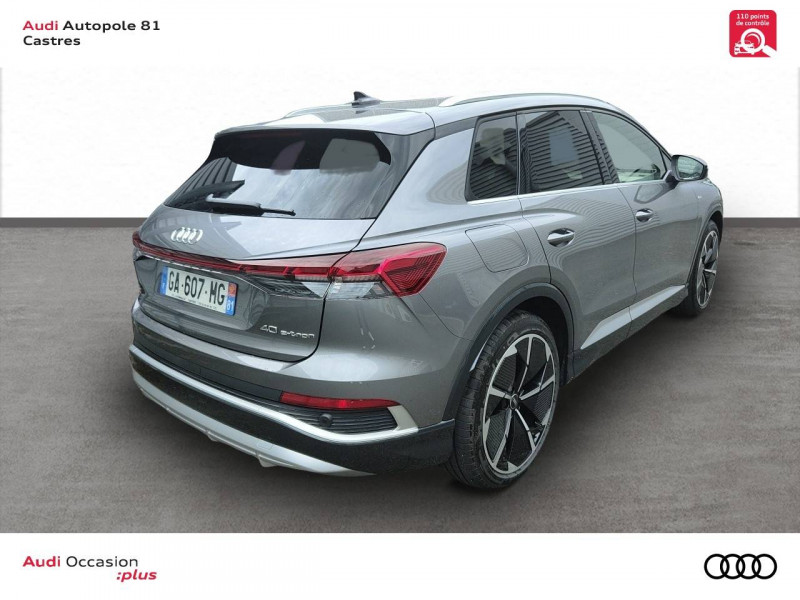 Audi Q4 Q4 e-tron 40 204 ch 82 kW  5p Gris occasion à Castres - photo n°4