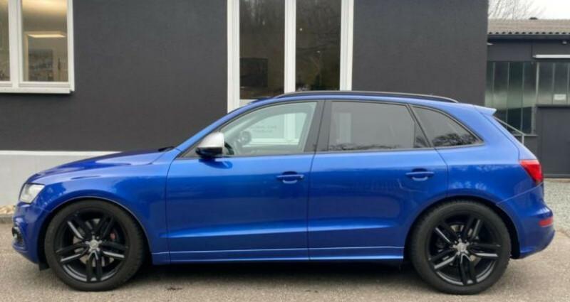 Audi Q5 3.0 TDI 326 CH COMPETITION Bleu occasion à Boulogne-Billancourt - photo n°5
