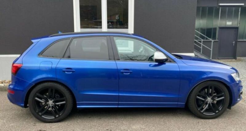 Audi Q5 3.0 TDI 326 CH COMPETITION Bleu occasion à Boulogne-Billancourt - photo n°4
