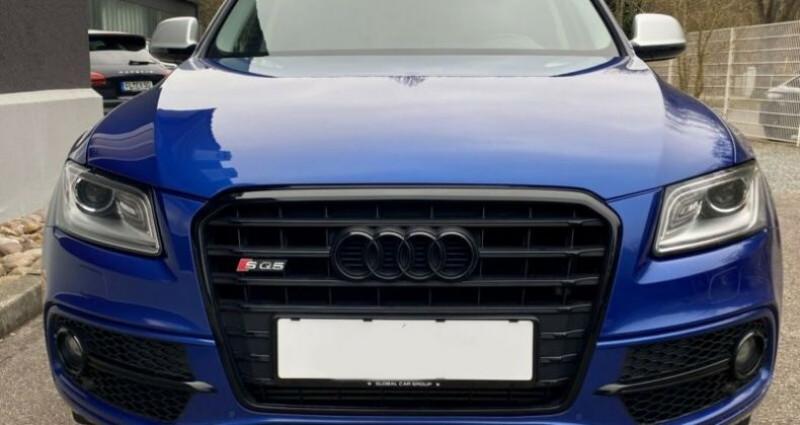 Audi Q5 3.0 TDI 326 CH COMPETITION Bleu occasion à Boulogne-Billancourt - photo n°6