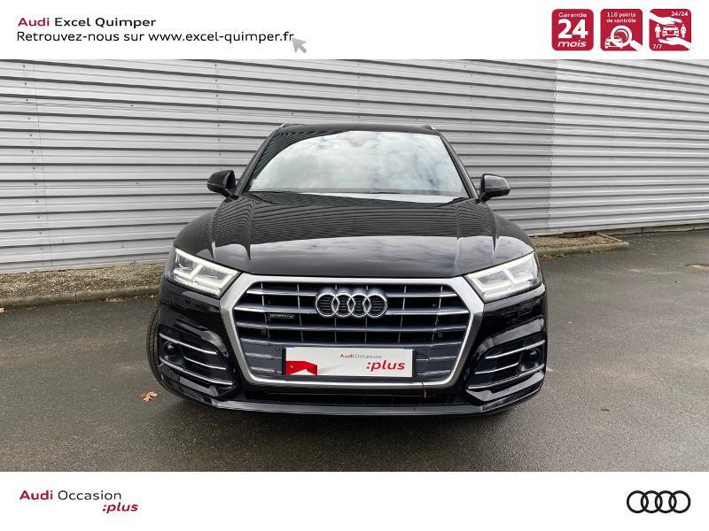 Audi Q5 35 TDI 163ch S line quattro S tronic 7 Euro6dT Noir occasion à Quimper - photo n°2