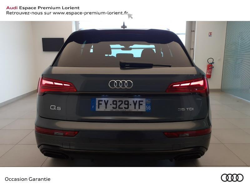 Audi Q5 35 TDI 163ch S line S tronic 7 Gris occasion à Lanester - photo n°5