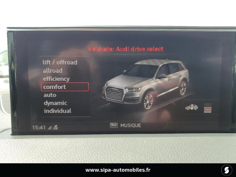 Audi Q7 3.0 V6 TDI 272ch clean diesel Avus Extended quattro Tiptroni Gris occasion à Lescar - photo n°19