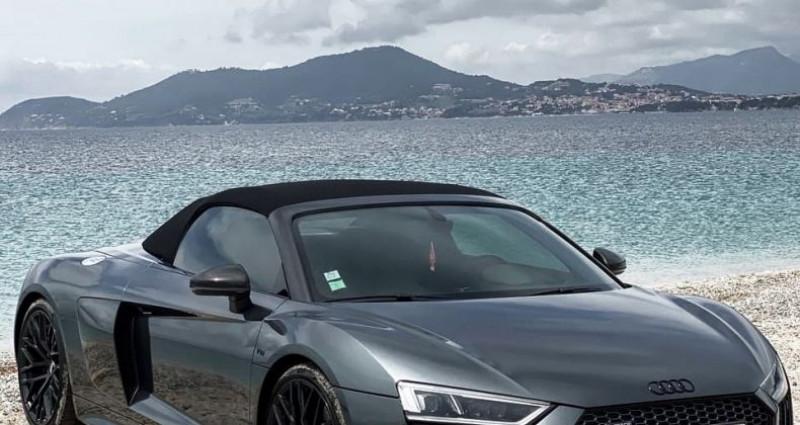 Audi R8 Spyder AUDI R8 SPYDER V10 5.2 - ECOTAXE PAYEE Gris occasion à SAINT LAURENT DU VAR