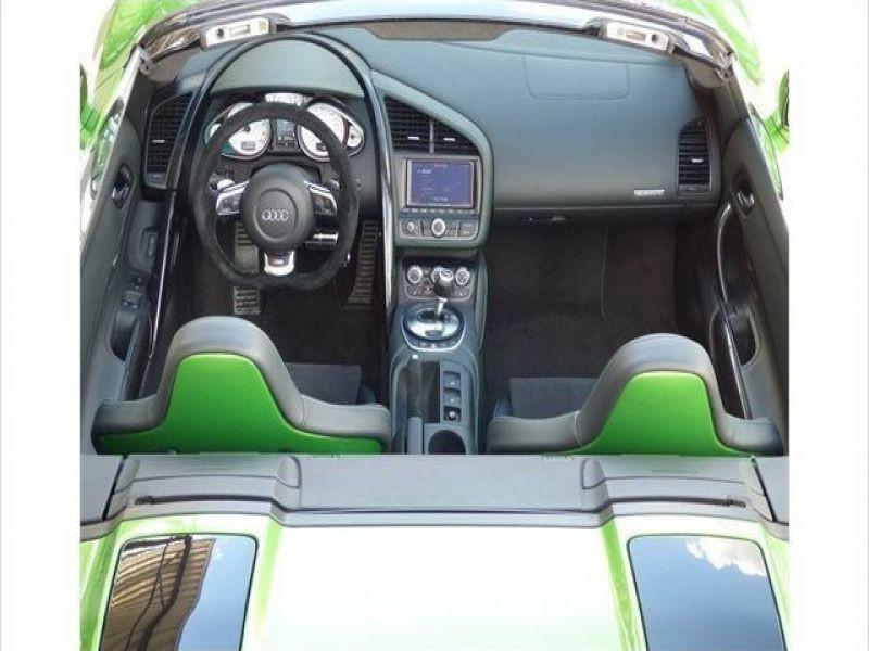 Audi R8 Spyder V10 5.2 FSI 525 ch Vert occasion à BEAUPUY - photo n°8