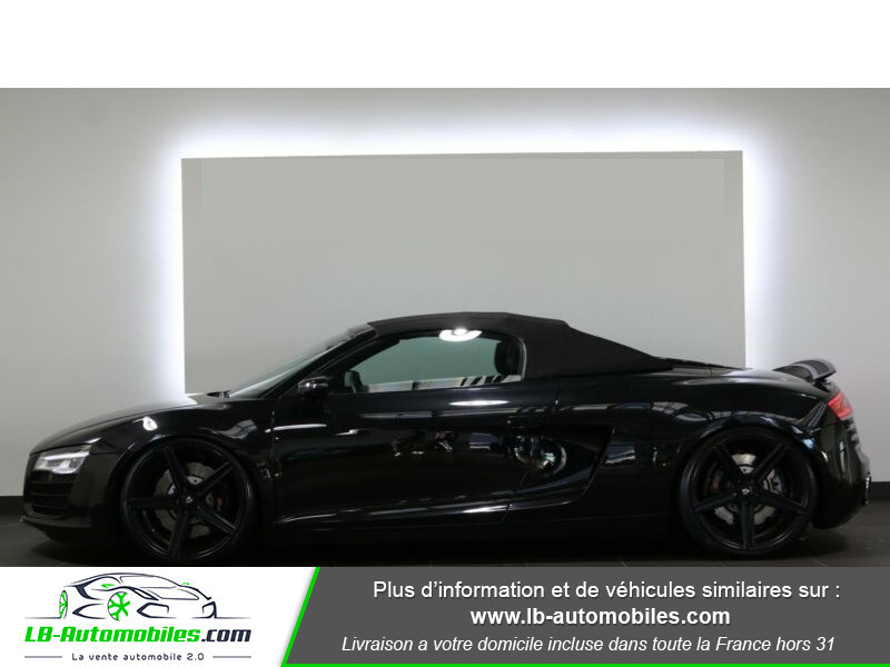 Audi R8 Spyder V8 4.2 FSI 430 / Quattro S tronic 7 Noir occasion à Beaupuy - photo n°12
