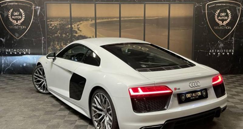 Audi R8 5.2 V10 FSI 540 QUATTRO S TRONIC Blanc occasion à GUERANDE - photo n°3