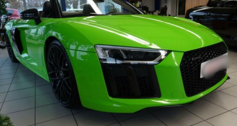 Audi R8 II 5.2 V10 FSI 540ch quattro S tronic 7 Vert occasion à Boulogne-Billancourt - photo n°2