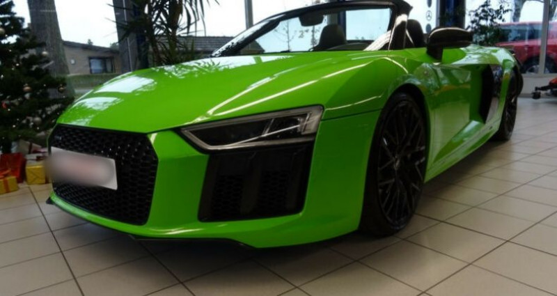 Audi R8 II 5.2 V10 FSI 540ch quattro S tronic 7 Vert occasion à Boulogne-Billancourt