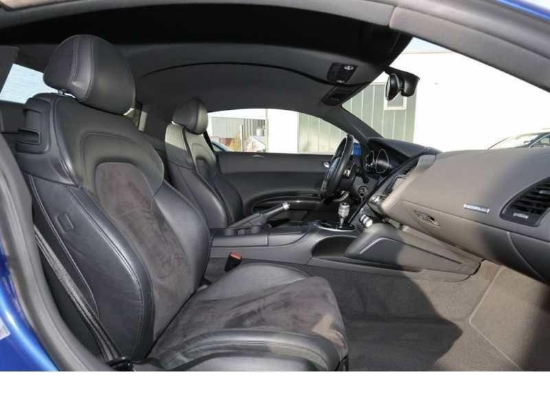 Audi R8 V10 5.2 FSI 525 ch S Tronic Bleu occasion à BEAUPUY - photo n°4