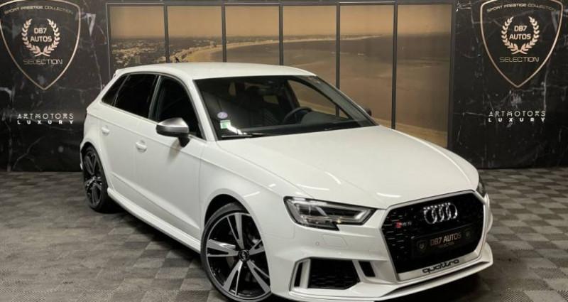 Audi RS3 2) SPORTBACK 2.5 TFSI 400 QUATTRO S TRONIC Blanc occasion à GUERANDE