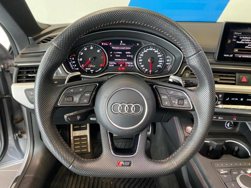 Audi RS5 Coupé V6 2.9 TFSi 450 Tiptronic 8 Quattro Gris occasion à SAINT-GREGOIRE - photo n°9