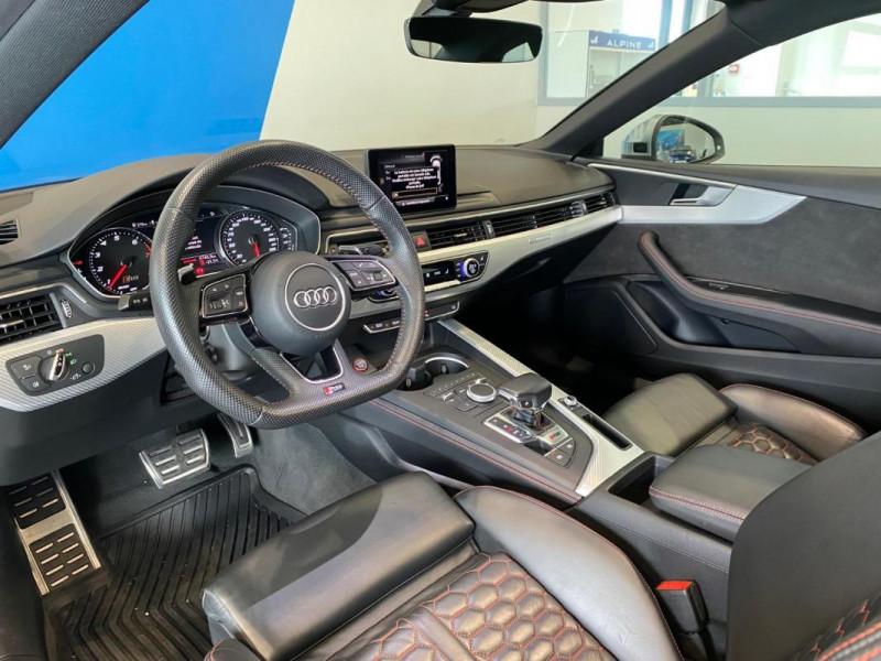 Audi RS5 Coupé V6 2.9 TFSi 450 Tiptronic 8 Quattro Gris occasion à SAINT-GREGOIRE - photo n°7