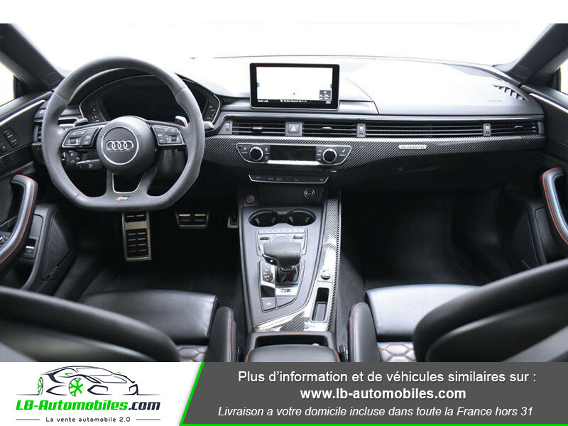 Audi RS5 V6 2.9 TFSi 450 Tiptronic 8 Quattro Noir occasion à Beaupuy - photo n°2