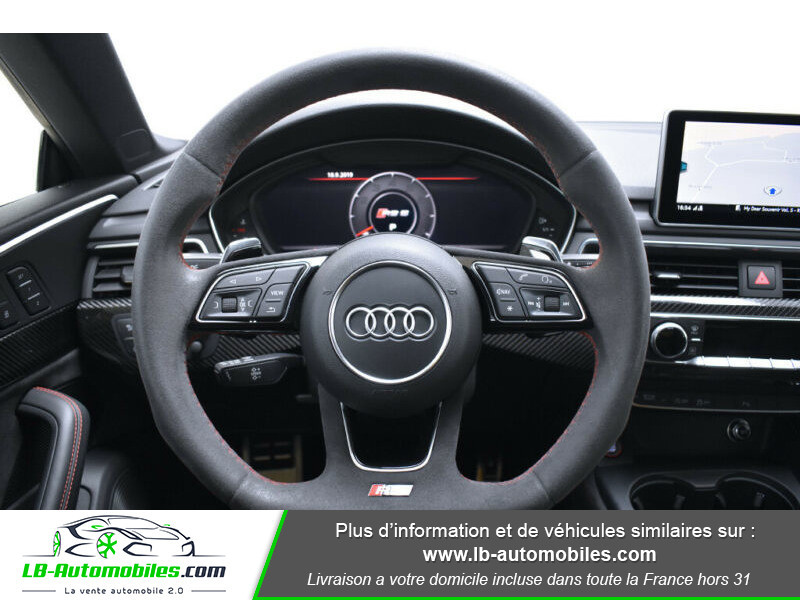 Audi RS5 V6 2.9 TFSi 450 Tiptronic 8 Quattro Noir occasion à Beaupuy - photo n°5