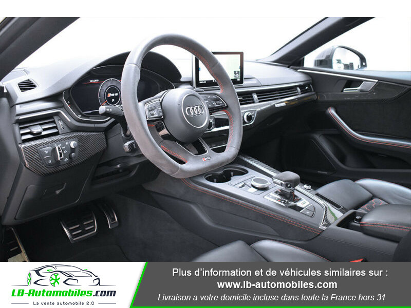 Audi RS5 V6 2.9 TFSi 450 Tiptronic 8 Quattro Noir occasion à Beaupuy - photo n°4