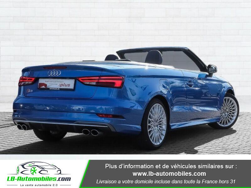 Audi S3 Cabriolet TFSI 300 S tronic Bleu occasion à Beaupuy - photo n°3