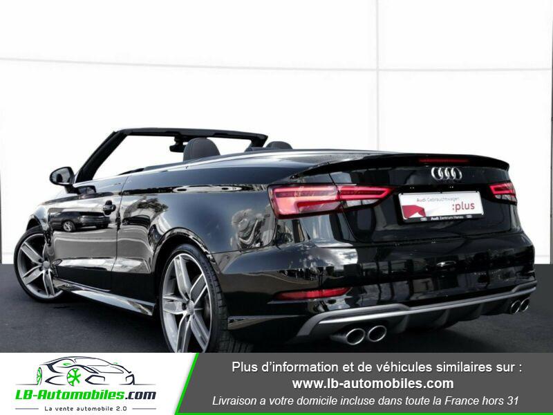 Audi S3 Cabriolet TFSI 300 S tronic Noir occasion à Beaupuy - photo n°3