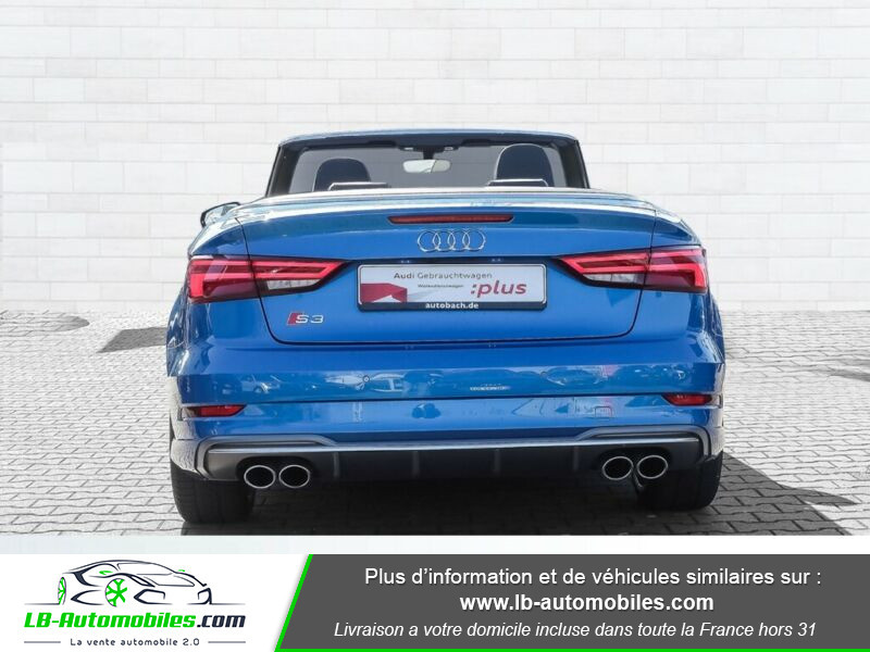 Audi S3 Cabriolet TFSI 300 S tronic Bleu occasion à Beaupuy - photo n°4