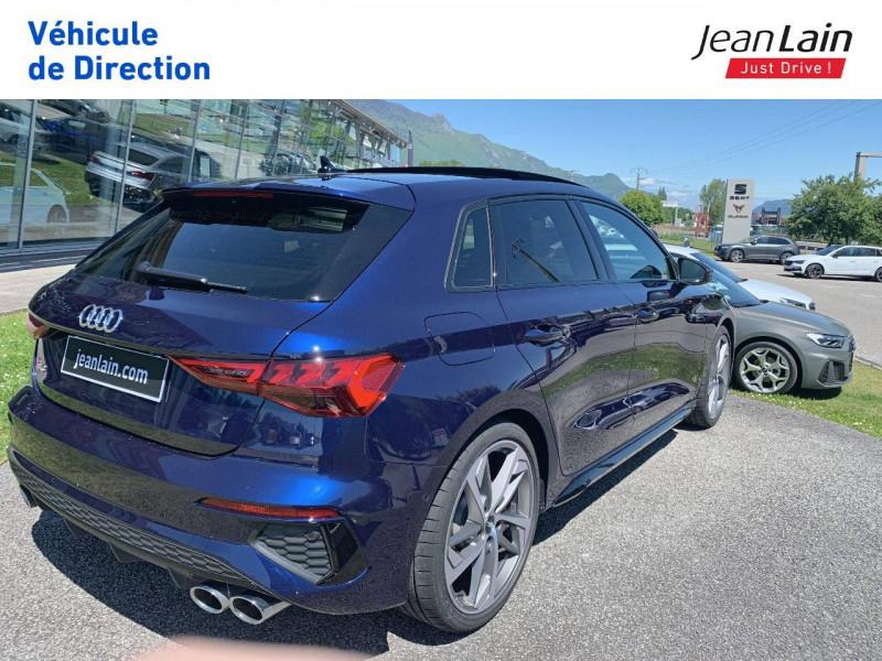 Audi S3 S3 Sportback 53 TFSI 310 S tronic 7 Quattro  5p Bleu occasion à La Motte-Servolex - photo n°5