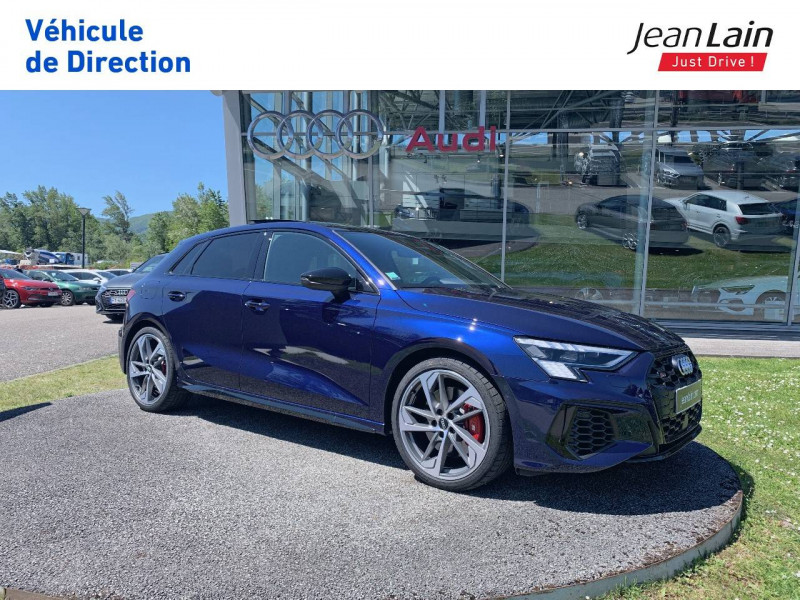 Audi S3 S3 Sportback 53 TFSI 310 S tronic 7 Quattro  5p Bleu occasion à La Motte-Servolex - photo n°3