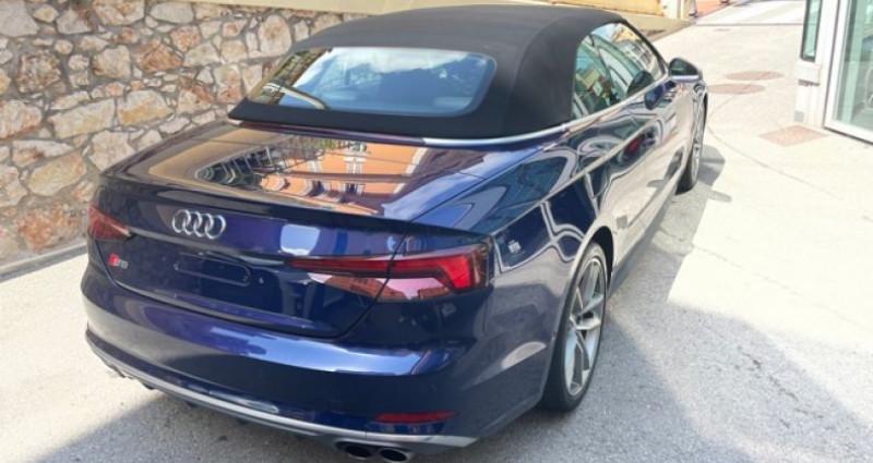 Audi S5 Cab 3L TFSI Quatrro 354 Bleu occasion à MONACO - photo n°4