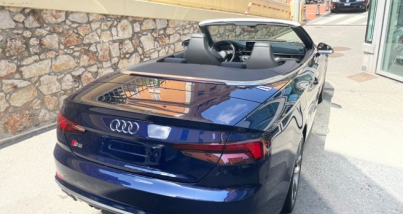Audi S5 Cab 3L TFSI Quatrro 354 Bleu occasion à MONACO - photo n°5