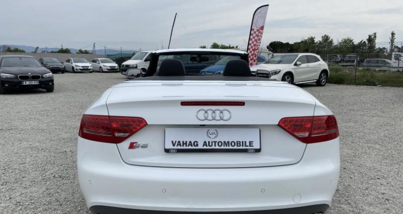 Audi S5 Cabriolet 3.0 V6 TFSI 333 quattro Stronic 7 Blanc occasion à VALENCE - photo n°5