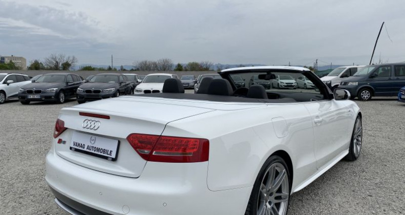 Audi S5 Cabriolet 3.0 V6 TFSI 333 quattro Stronic 7 Blanc occasion à VALENCE - photo n°4