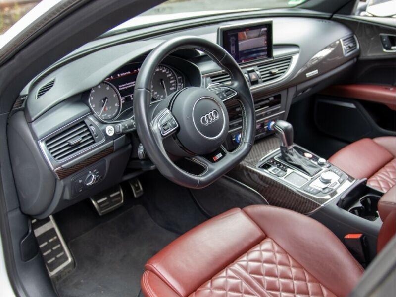 Audi S7 Sportback 4.0 V8 TFSI 450CH QUATTRO S TRONIC 7 Blanc occasion à Villenave-d'Ornon - photo n°3