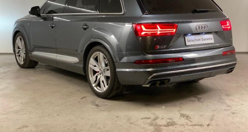 Audi SQ7 4.0 V8 TDI 435ch clean diesel quattro Tiptronic 7 places Gris occasion à Nice - photo n°4