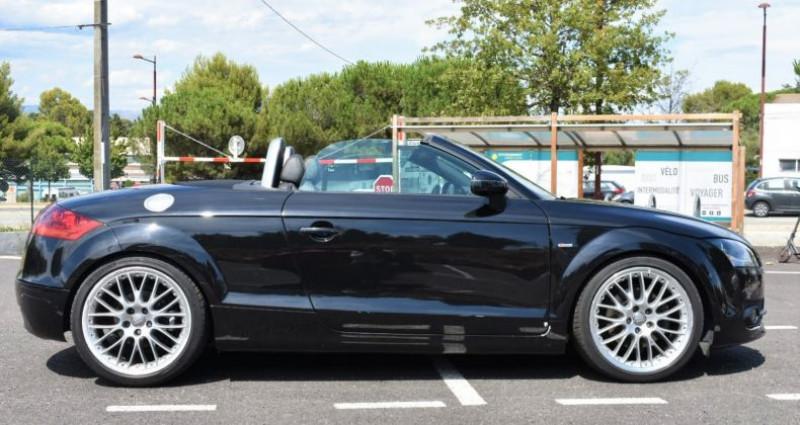 Audi TT Cabriolet 2.0 TFSI 200ch S-Line Boite Auto Noir occasion à ANTIBES - photo n°4