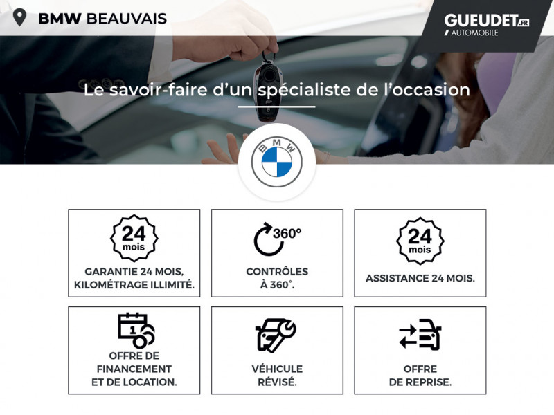 Bmw 116 sDrive16dA 116ch Lounge DKG7 Euro6d-T Gris occasion à Beauvais - photo n°17