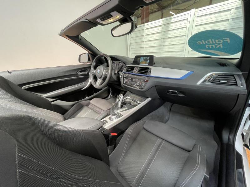 Bmw Serie 2 218da Cabriolet 150 CH BVA  F23 M Sport + Options Blanc occasion à Lormont - photo n°13