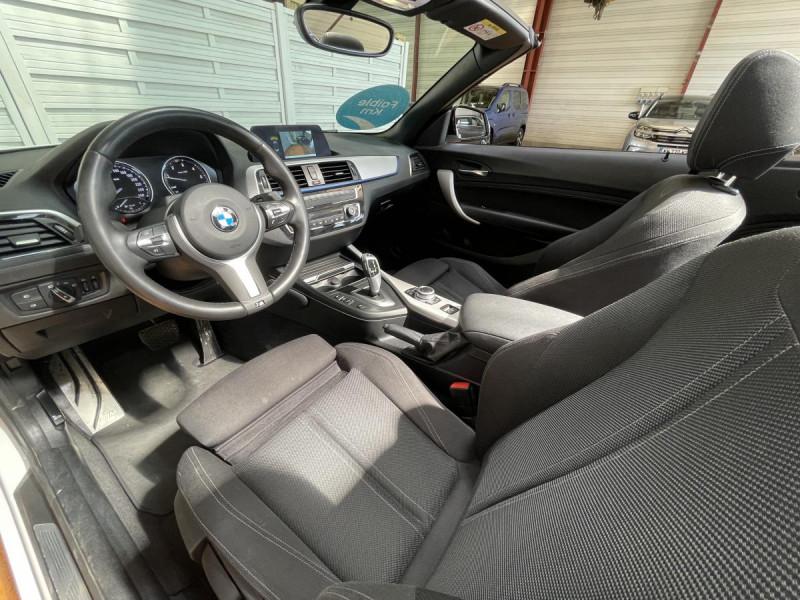 Bmw Serie 2 218da Cabriolet 150 CH BVA  F23 M Sport + Options Blanc occasion à Lormont - photo n°9