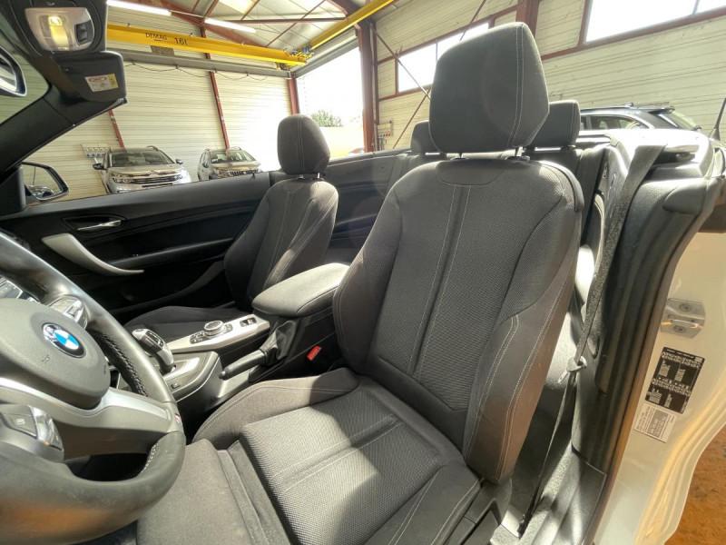 Bmw Serie 2 218da Cabriolet 150 CH BVA  F23 M Sport + Options Blanc occasion à Lormont - photo n°8