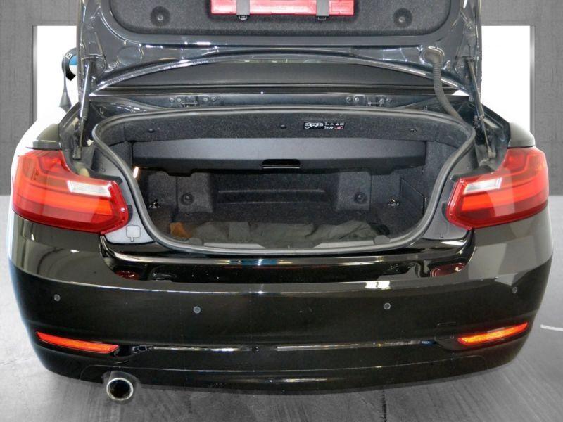 Bmw Serie 2 220 i Cabriolet Noir occasion à Beaupuy - photo n°5