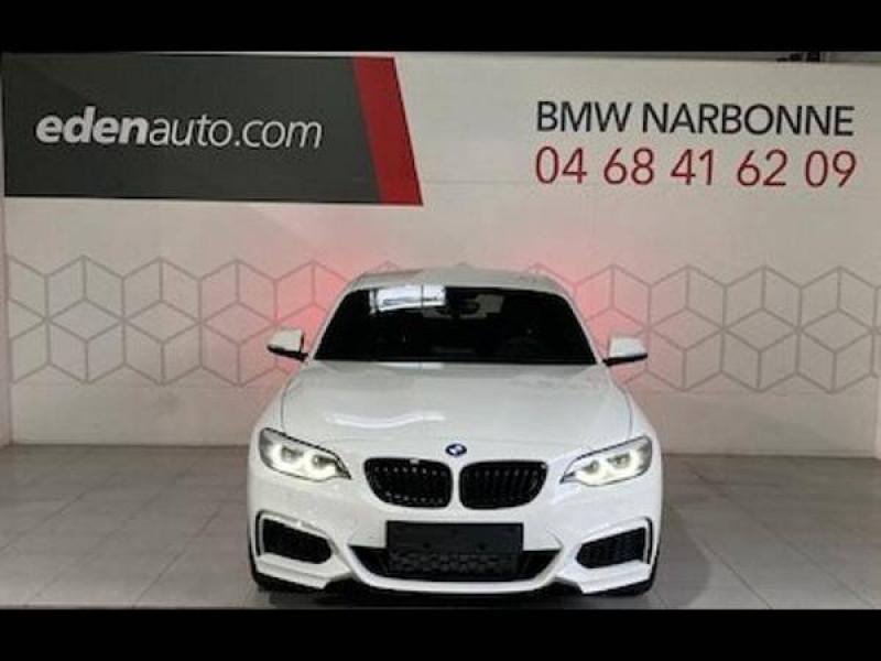 Bmw Serie 2 Coupé 218i 136 ch BVA8 M Sport 2p Blanc occasion à Narbonne - photo n°4