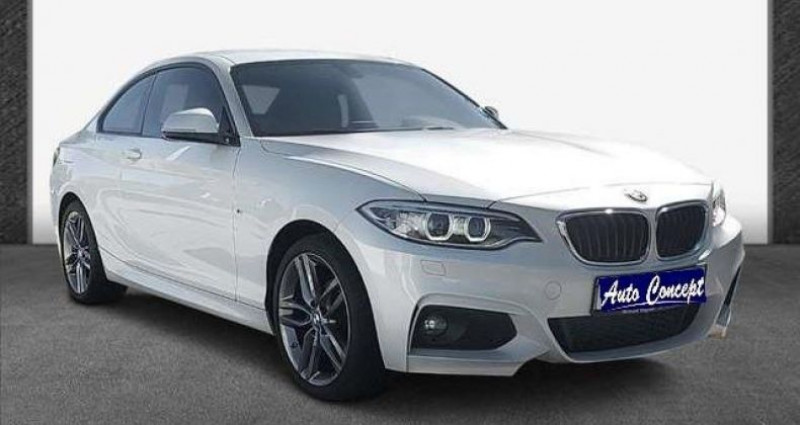 Bmw Serie 2 Coupe I (F22) 218i 136ch M Sport Blanc occasion à LANESTER - photo n°4