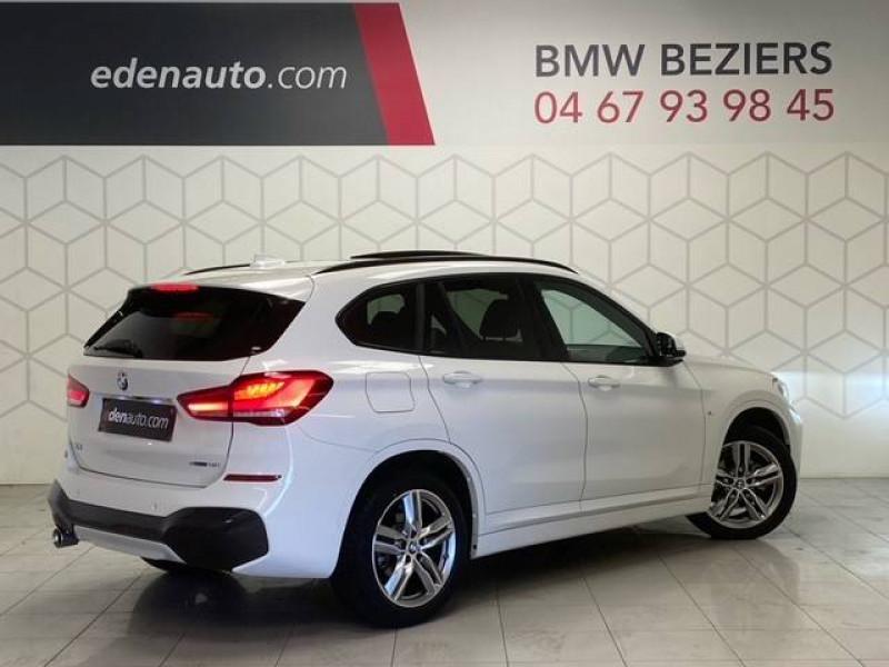 Bmw X1 X1 sDrive 18i 140 ch M Sport 5p Blanc occasion à Béziers - photo n°2