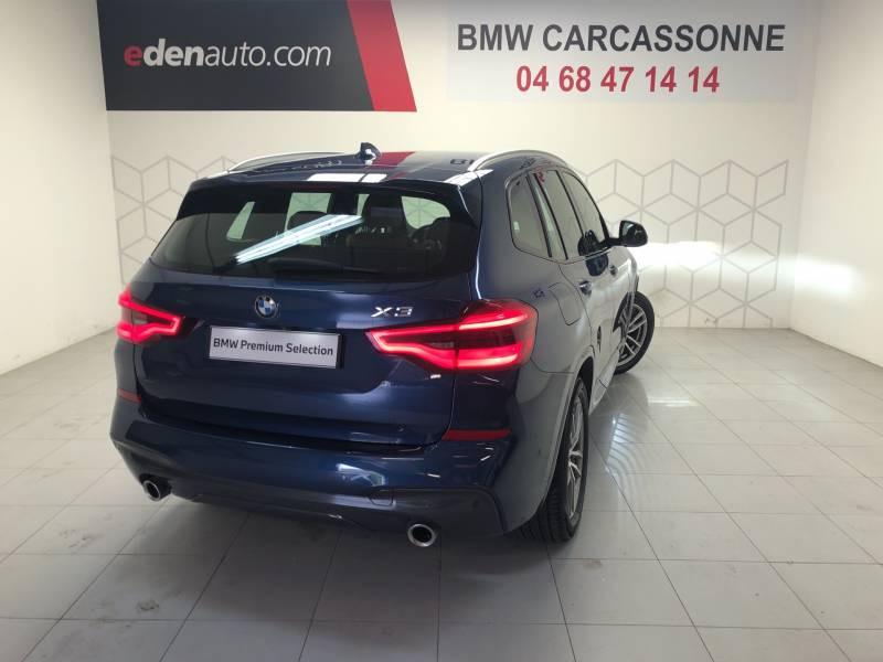 Bmw X3 G01 xDrive20d 190ch BVA8 M Sport Bleu occasion à Carcassonne - photo n°2