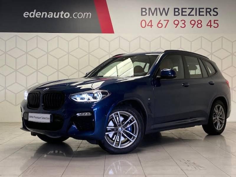 Bmw X3 G01 xDrive30d 265ch BVA8 M Sport Bleu occasion à Béziers