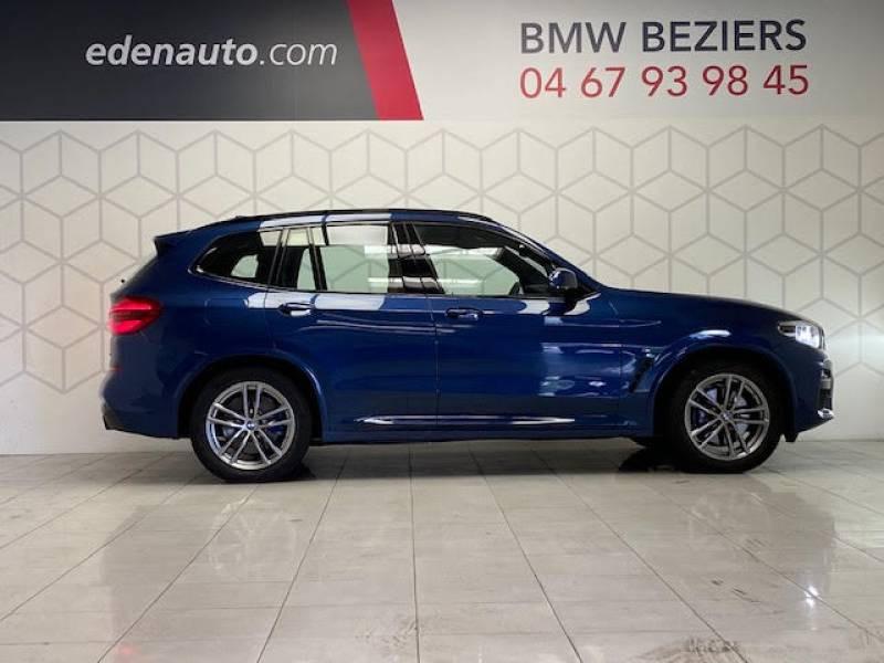 Bmw X3 G01 xDrive30d 265ch BVA8 M Sport Bleu occasion à Béziers - photo n°3
