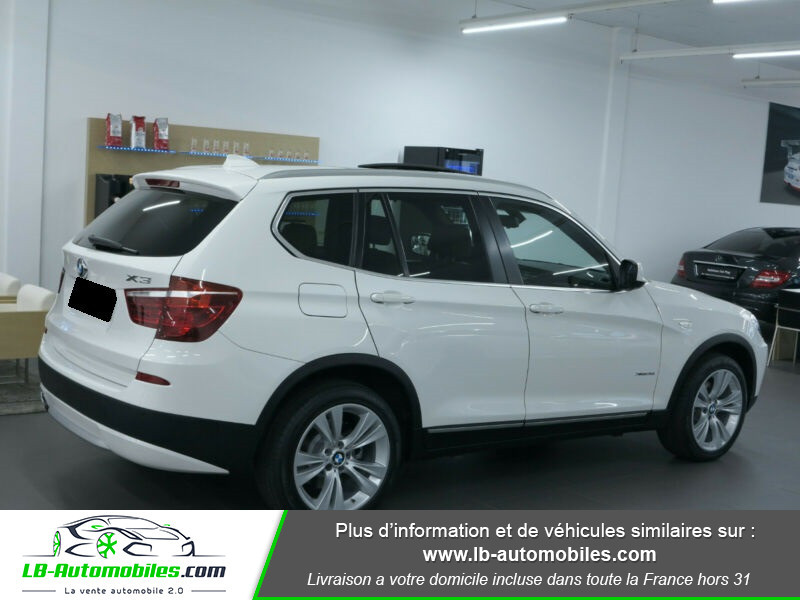 Bmw X3 xDrive35i 306ch Blanc occasion à Beaupuy - photo n°4