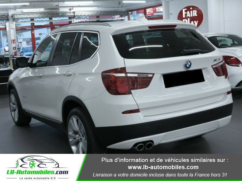 Bmw X3 xDrive35i 306ch Blanc occasion à Beaupuy - photo n°6