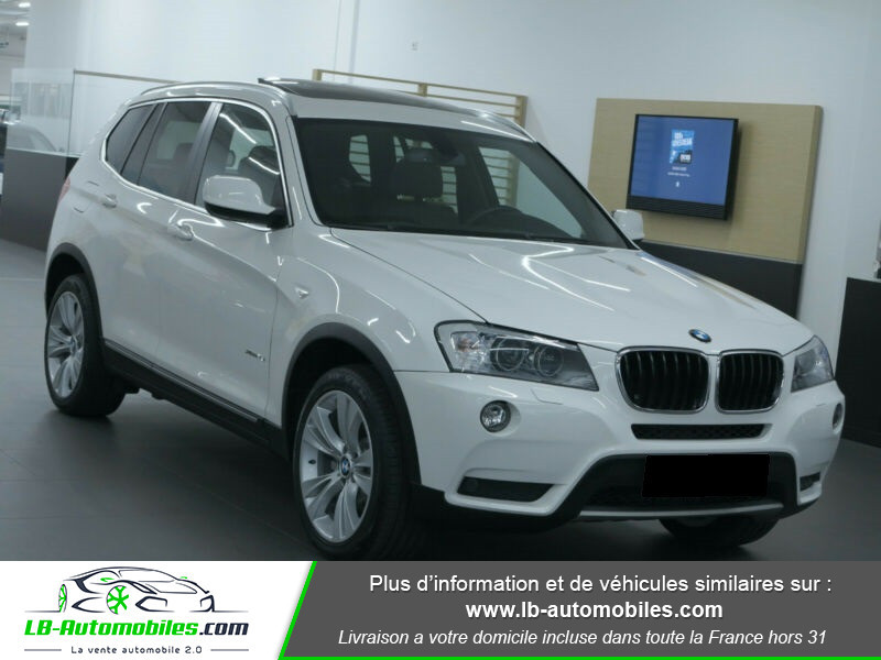 Bmw X3 xDrive35i 306ch Blanc occasion à Beaupuy - photo n°3