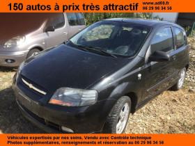 Chevrolet KALOS Noir, garage VOITURE PAS CHERE RHONE ALPES à Saint-Bonnet-de-Mure