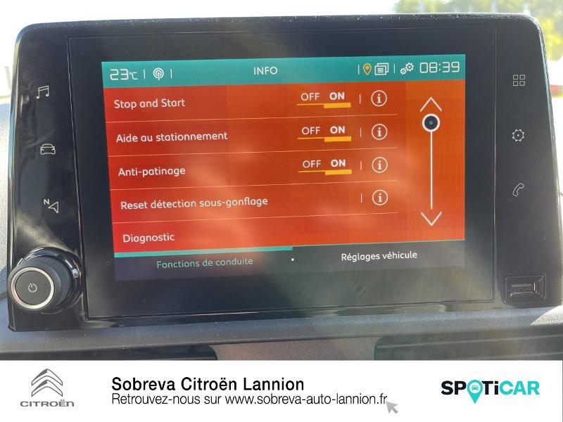 Citroen Berlingo M 650kg BlueHDi 100 S&S Driver Blanc occasion à LANNION - photo n°16